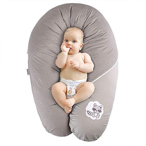 Ökotex XXL Stillkissen + 1x Extra Stillkissenbezug | Schwangerschaftskissen Lagerungskissen | Bezug 100% Baumwolle | Made in Europa von Sei Design
