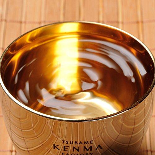 和平フレイズおちょこ日本酒ぐいのみ燕研磨ファクトリー100ml内面金メッキステンレス日本製TM-9852