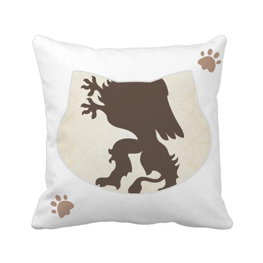 名目上のマラドロイトトレイヨーロッパの動物のチーターの国章 枕カバーを放り投げる猫広場 50cm x 50cm
