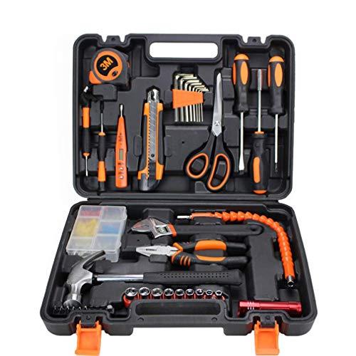 SEESEE.U Home DIY Tool Kit, Handwerkzeuge und 43-teiliges Wandbehang-Kit mit Schraubendreher für die Reparatur und Wartung von Haushalten in Einer Tragetasche, professionelles Werkzeugset