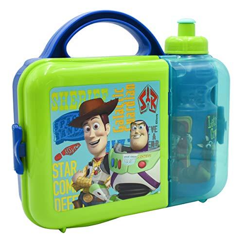 Fun Kids 1669-829 Lonchera Infantil Toy Story de Plástico Lunch Box con Botella de Agua