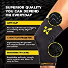 Knee Compression Sleeve by CopperJoint - Knee Support for Women & Men - Breathable Copper Infused Nylon - Non-Slip - For Pain Relief, Recovery, Swelling & Circulation – Single Sleeve Only (X-Large) #3