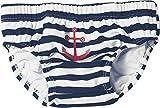 Playshoes - 460110 Jungen Schwimmwindel UV-Schutz Windelhose Maritim, Mehrfarbig (171 marine/weiß), 86/92 cm