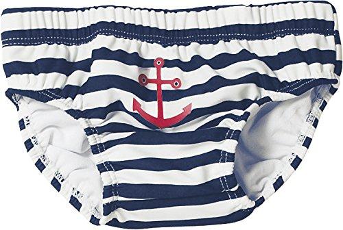 Playshoes - 460110 Jungen Schwimmwindel UV-Schutz Windelhose Maritim, Mehrfarbig (171 marine/weiß), 74/80 cm