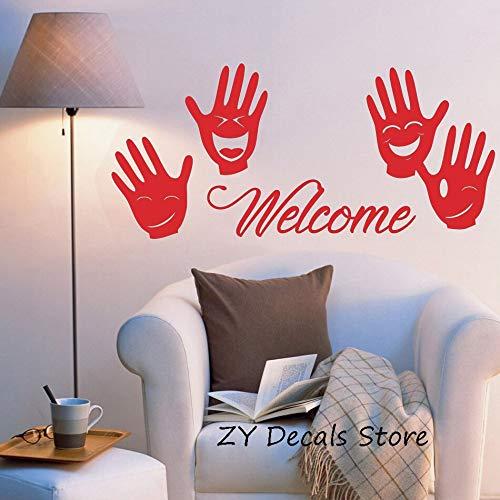 zqyjhkou Islam Allah Vinyl Wall Decal Leaf Design Arabic Artist Living Room Bedroom Art Deco Wall Decor 120x55cm