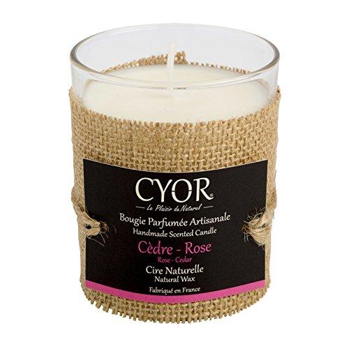 CYOR - Vela perfumada de ceredero, 130 g, 100 % natural, fabricada a mano en Francia