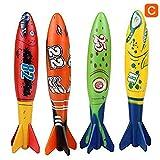 Sunmery Juego de 4 piezas de piscina para niños, torpedo, juego de verano para niños