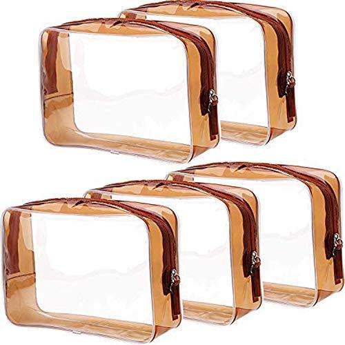 5pcs bolsa de almacenamiento transparente PVC impermeable cosméticos bolsa de viaje bolsa de aseo portátil