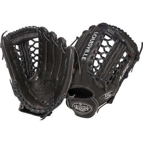 Louisville Slugger 12.75-Inch FG 125 Series Softball Infielders Gloves, Black, Left Hand Throw