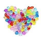 YunBey Gemas Acrilicas 270 piezas(Mezcla de Colores) Diamantes Acrílico Gemas De Plastico Piedras Para Llenar Jarrones, Decorar Bodas, Fiestas, Mesas y Hacer Manualidades