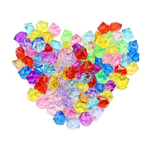 YunBey Acryl Kristall Edelsteine 270 Stücke(Farbmischung) Diamanten Dekosteine Plastik Glitzersteine Juwelen Vasenfüllung Es Kann für Hochzeiten, Partys und Andere Veranstaltungen Verwendet Werden