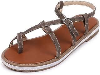 BalaMasa Womens ASL06891 Pu Flats Sandals
