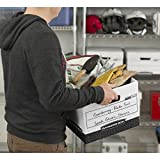 Bankers Box R-KIVE Heavy-Duty Storage Boxes, FastFold, Lift-Off Lid, Letter/Legal - 12-Pack