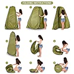 Pop Up Privacy Tent – Instant Portable Outdoor Shower Tent, Camp Toilet, Changing Room, Rain Shelter with Window – for…