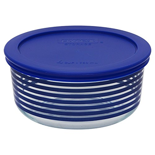 Pyrex Simply Store 4 Cup Blue Lane Storage Dish with Lid
