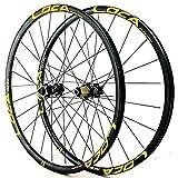 YUDIZWS Llantas De 26/27.5/29 Pulgadas para Bicicleta Montaña Rueda Delantera Y Trasera Eje Pasante Freno Disco Cassette 7/8/9/10/11/12 Velocidad 1600g (Color : A, Size : 27.5inch)