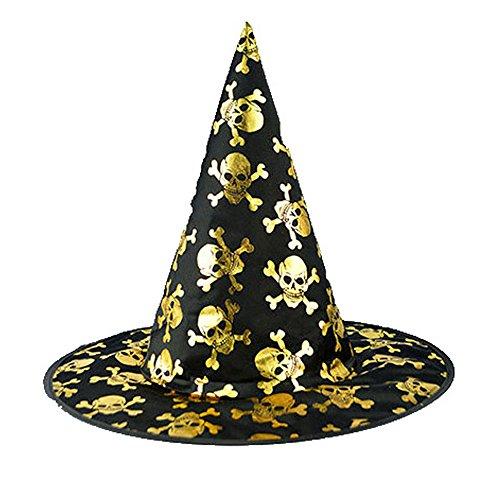 Preisvergleich Produktbild Zottom Der Schwarze Hexenhut der Erwachsenen Frauen für Halloween-Kostüm-Zusatz-Kappe B