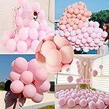 LAKIND Ballon Multicolore 100-PACK Ballon Coloré Ballon MulticolorBallon Baudruche Multicolore Party Ballons Assortiment de Ballons pour fête d'anniversaire de Mariage (macoron rose-100pcs)
