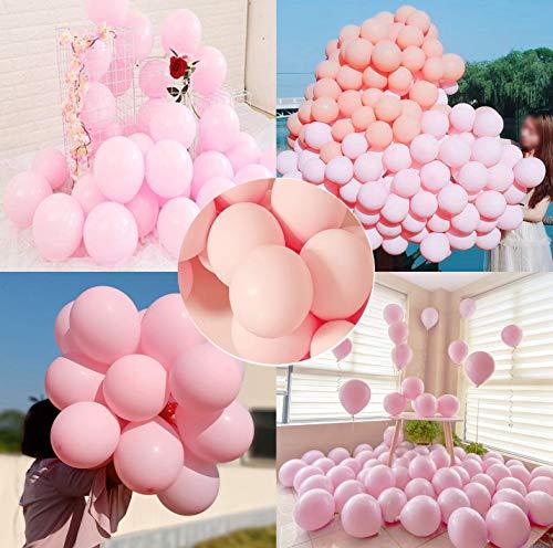 O-Kinee Luftballons Pastell Rosa 100 Stück 10 Inch Bunte Latex Ballons Luftballons Bunt Latexballons für Hochzeit Weihnachten Geburtstag Luftballon Party Deko