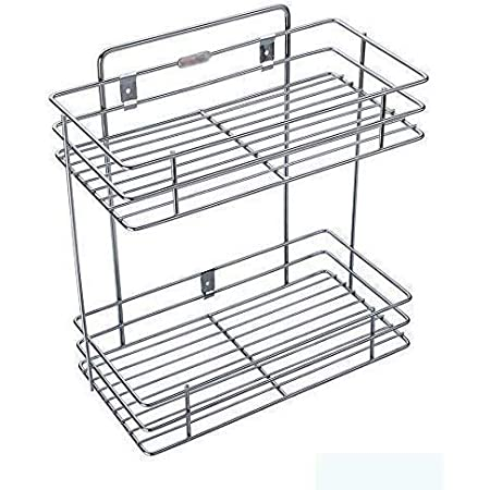 Filank Stainless Steel 2 Layer Shelf/Rack for Bathroom and Home Kitchen (Doubel)