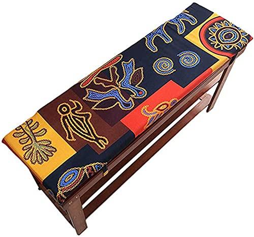 Hruile - Cuscino lungo per panca con cerniera, 2 o 3 posti in legno, cuscino di ricambio lavabile, per sedia da pranzo, giardino, patio, amaca, 80 x 30 cm, esotico