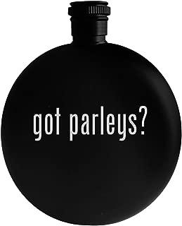 got parleys? - 5oz Round Alcohol Drinking Flask, Black