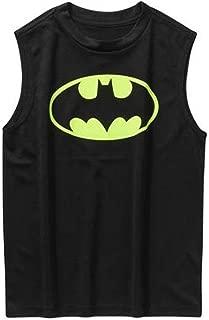 DC Comics Batman Logo Muscle Shirt Sleevless Tank Top (Large 10/12)