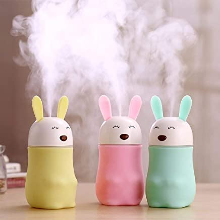 Skyfish® Lovely Bear Rabbit Shaped Humidifiers | air purifier | air freshener with LED Night Light For Home Bedroom Hotel Office And etc (MultiColor)
