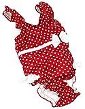 Fashy Baby Einteiler Mit Windelhöschen, rot/Weiß, 74/80