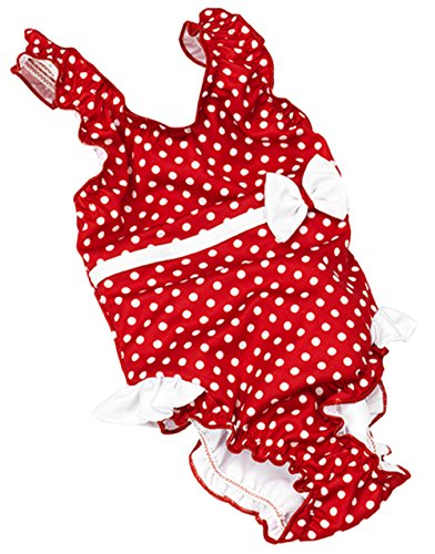 Fashy Baby Einteiler Mit Windelhöschen, rot/Weiß, 98/104