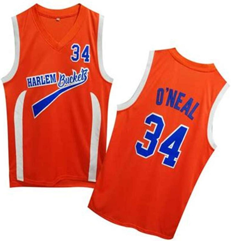 Lusam feeling Uncle Drew  34 Harlem Buckets orange Movie Basketball Jersey