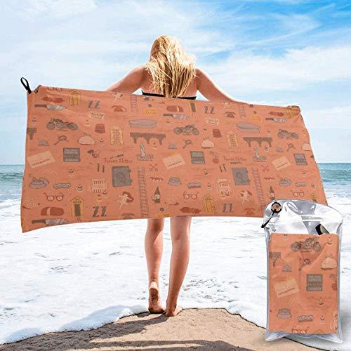 Toalla de Playa 27.5 'X 55',Night Beach Starfish Arena Ultra Suave Microfibra Portátil Absorbente de Agua Microfibra múltiple Sin Arena Toalla de Playa Manta-Art Wallpaper