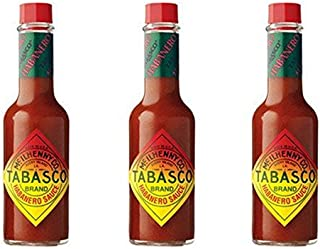 Tabasco Habanero Pepper Hot Sauce, 5 oz (Pack of 3)
