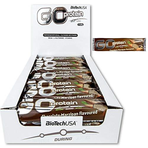 2 x Biotech USA Go Protein Bar, 21x80g Riegel , Schoko-Marzipan (2er Pack)