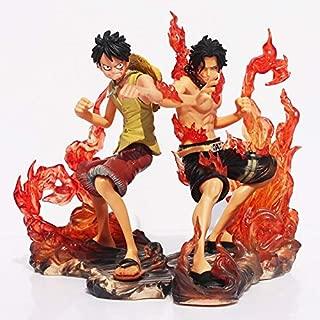 Lushman 2pcs/Set 15cm One Piece DX Luffy Ace Brotherhood Anime Cartoon 2 Years Later PVC Action Figure S Battle Ver Model Dolls