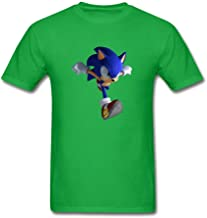 NYShirt Men's Sonic Hedgehog Running Short Sleeve T-Shirt