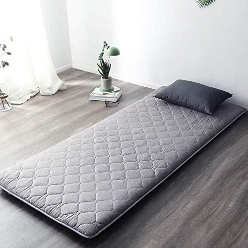 POETRY Gesteppter Fußboden Futon Matratze Japanisches Bett Isomatte Matt Mat Faltbare Rollmatratze-e 90x190cm (35x75inch)