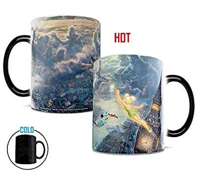 Disney - Peter Pan - Tinker Bell - Fly to Neverland - Morphing Mugs Heat Sensitive Mug – Image revealed when HOT liquid is added - 11oz Large Drinkware