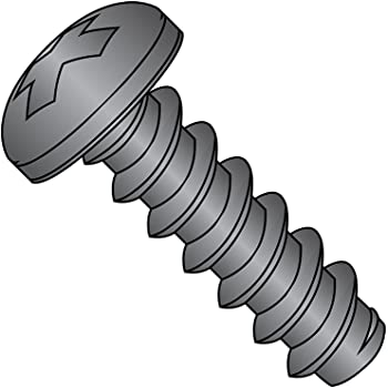 Steel Sheet Metal Screw #4-24 Thread Size Pan Head Small Parts 0404ABPPBZ 1//4 Length 1//4 Length Black Zinc Plated Finish Type AB Pack of 100 Pack of 100 Phillips Drive