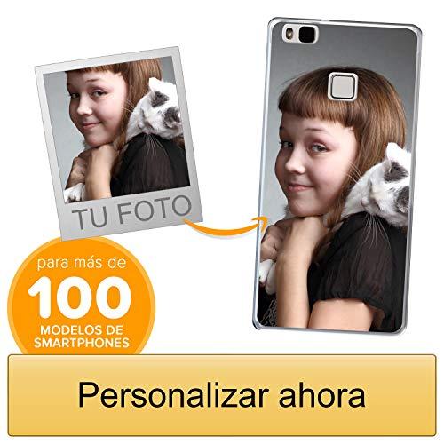 Funda Personalizada para Huawei P9 Lite con tu Foto, Imagen o Escritura - Estuche Suave de Gel TPU Transparente - Impresión