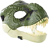 Jurassic World Movie-inspired Dinosaur Mask with Opening Jaw, Realistic Texture and Color, Eye and Nose Openings and Secure Strap; Ages 4 and Up