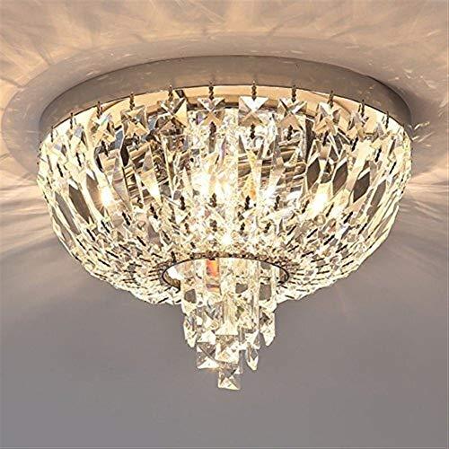 GYW-YW Luces colgantes Luces colgantes de cristal de la lámpara de techo lámpara de LED, Warm dormitorio simple lámpara moderna Balcón Corredor Porche Lámparas Guardarropa (Color : 35 * 25cm)