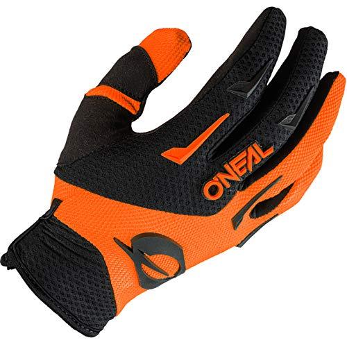 O'NEAL   Guantes de Motocross MX MTB DH FR Downhill Freeride   Materiales duraderos y Flexibles, Palma ventilada   Element Glove   Niños   Negro Naranja Neón   Talla S
