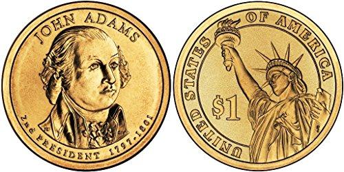 2007 D John Adams, 25-coin Bankroll of Presidential Dollars Uncirculated