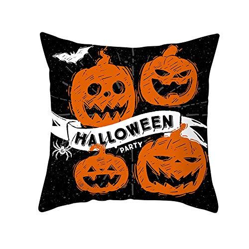 Halloween Ghost Witch Pumpkin Throw Pillow Case Magical Cat Cushion Cover Decor Happy Fall all ghosts Horror Pillowcase-BSJ002—14