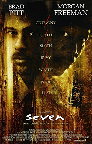 Se7en (1995) vintage movie poster 24x36inch 01