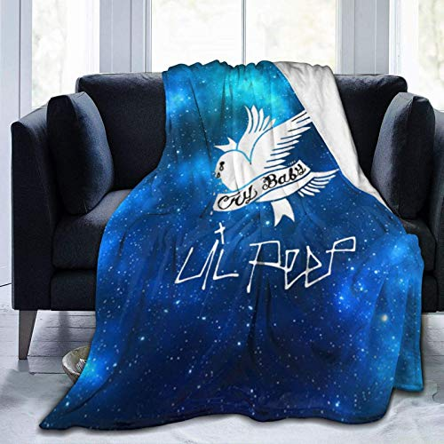 Tengyuntong Skin-Friendly Flannel Blanket Lil Peep Lightweight Soft Bed s for Home Couch 50'X40'