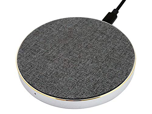 Networx Wireless Charger 2.0, Qi-Ladepad, Stoffbezug, grau