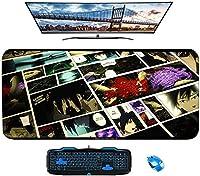デスクトップコンピュータPCおよびラップトップ用のマウスパッド滑り止め暁かわいいマウスパッド-A_800X300X3mm