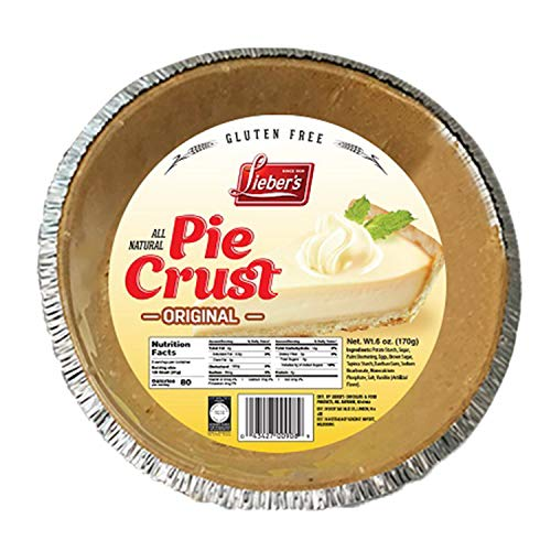 Lieber's Original Pie Crust 6 oz - Gluten-Free - Kosher for Passover (Single)